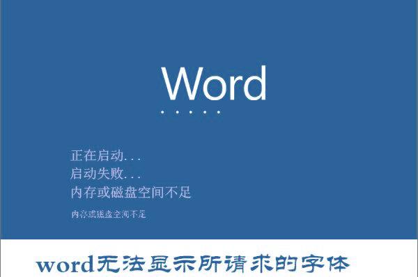 "Win10系统打开Word提示""Word无法显示所请求的字体""怎么办?"