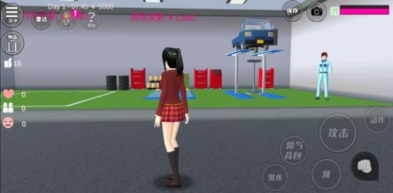樱花校园模拟器中文版女孩去健身房