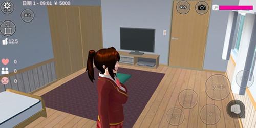 樱花校园模拟器中文版在房间图