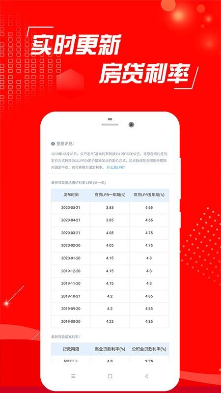 房贷计算器2021手机版